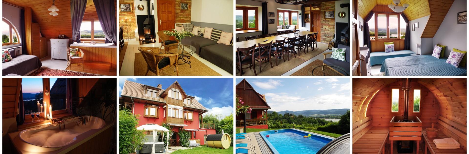 panoráma, Zebegény, szállás, vendégház, szauna, medence, kandalló